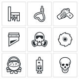 Execution icons. Vector Illustration. Stock Photo