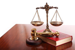 Execution of judicial decisions Royalty Free Stock Photo