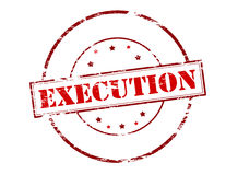 Execution. Rubber stamp with word execution inside,  illustration Stock Photo