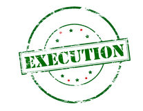 Execution. Rubber stamp with word execution inside,  illustration Royalty Free Stock Photos