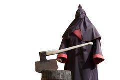 Executioner τσεκούρι που απομονώνεται στο λευκό Στοκ φωτογραφία με δικαίωμα ελεύθερης χρήσης