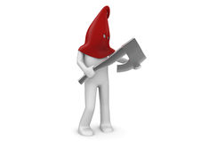 Executioner - man at work series. 3d isolated on white background characters series Stock Photos