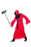 Executioner in red costume Stock Photo
