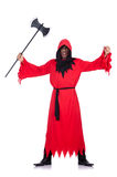 Executioner in red costume Royalty Free Stock Photos