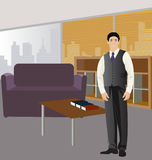 Executive. Important executive leading an office Stock Photo