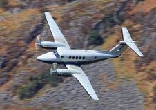 Executive aircraft King Air. Executive aircraft in flight, Beechcraft King Air Royalty Free Stock Photography