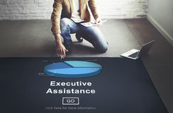 Executive Assistance Corporate Business Web Online Concept Stock Photos