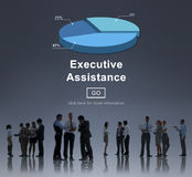 Executive Assistance Corporate Business Web Online Concept Royalty Free Stock Photos