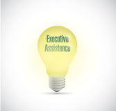 Executive assistance light bulb illustration Royalty Free Stock Image
