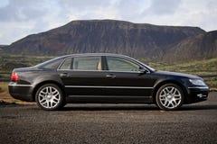 Executive black business sedan Royalty Free Stock Photo