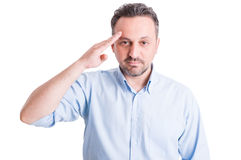 Executive boss making military salute Stock Images