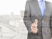 Executive of the business city Stock Image