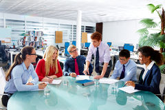Executive business people team meeting at office Royalty Free Stock Photos