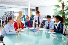 Executive business people team meeting at office. Teamwork young multiracial Royalty Free Stock Photo