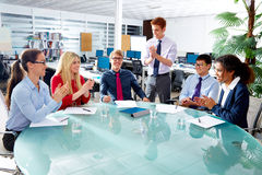 Executive business team clapping hands meeting Royalty Free Stock Photo