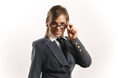 Executive business woman. Business woman looking at camera Royalty Free Stock Image