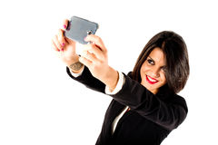 Executive business woman selfie Royalty Free Stock Photography