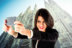 Executive business woman selfie Stock Photo