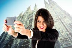 Executive business woman selfie Stock Photo