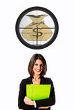Executive business woman target Stock Photo