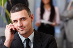 Executive businessman on the phone Royalty Free Stock Photo