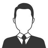 Executive businessman profile isolated icon. Stock Photography