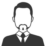 Executive businessman profile isolated icon. Stock Photo