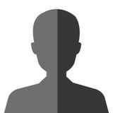 Executive businessman profile isolated icon. Stock Image