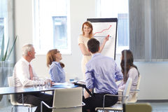 Executive businesswoman at meeting Stock Photo