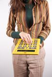 Executive with calculator Royalty Free Stock Image