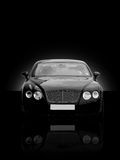 Executive Car. Head on with black background Royalty Free Stock Photo