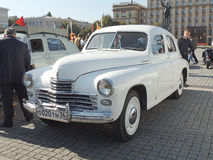 Executive car of 1950s fastback GAZ-M20 Pobeda version II Royalty Free Stock Photo