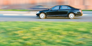 Executive car speed Stock Image