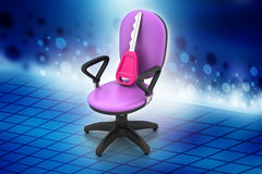 Executive chair with key Royalty Free Stock Images
