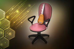Executive chair with key Royalty Free Stock Photography