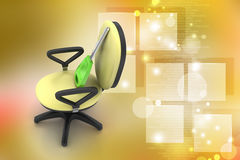 Executive chair with key Royalty Free Stock Photos