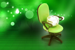 Executive chair with money container Stock Photo