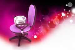 Executive chair with money container Royalty Free Stock Image