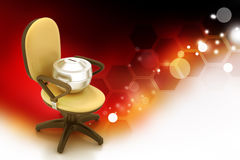 Executive chair with money container Royalty Free Stock Photography