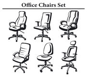 Executive Chairs  Set Royalty Free Stock Photography