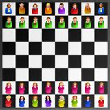 Executive chess vector illustration