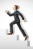 Executive Climbing Success Stock Image