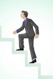 Executive Climbing Success Royalty Free Stock Photos