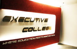 Executive college stock photo