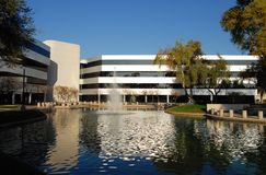 Executive Commercial Building. With water feature landscaping Stock Image