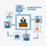 Executive concept flat Royalty Free Stock Photography