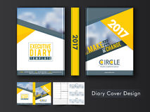 Executive Diary Template or Cover design. Royalty Free Stock Image