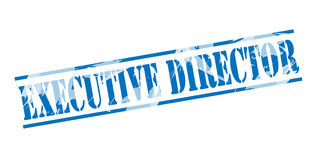 Executive director blue stamp Royalty Free Stock Photo
