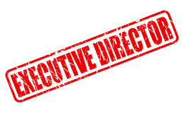 EXECUTIVE DIRECTOR red stamp text Royalty Free Stock Photography