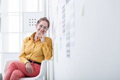 Executive director sitting in office Stock Photos